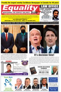 Equality Newspaper - September 16, 2021 - It's decision time!