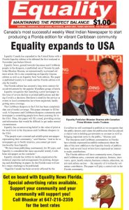 Equality Newspaper - October 14, 2021 - Florida Edition coming November 1, 2021